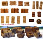 Value Gear Details Wooden Crates Set 4