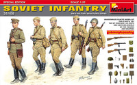 Miniart Models - WWII Soviet Infantry with Weapons & Equipment