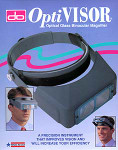 Donegan Optical - #5 OptiVisor Binocular Headband Magnifier w/Glass Lens Plate 2.5x Power at 8""
