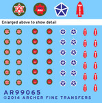 Archer Fine Decals and Transfers - US 6th Army, 5th & 7th Corps, Special Service Patches