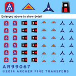 Archer Fine Decals and Transfers - US 1st, 5th, 7th Army & 3rd Corps Uniform Patches