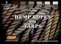 Lifecolor Hemp Ropes & Tarps Diorama Acrylic Set
