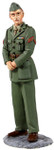Wm. Britain - U.S. Marine in Green Winter Service Dress, WWII