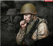 Life Miniatures - 'On the Edge of No Man's Land' WW2 Young Red Army Infantryman July 1943, Battle of Kursk