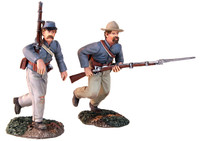 "Wm. Britain - ""At the Double Quick"" Confederate Charging Set"