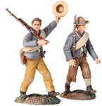 "Wm. Britain: American Civil War: ""Huzza For The Company"" Confederate Infantry Marching Set"
