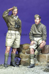 Alpine Miniatures - British Armoured Crew with Puppy Set