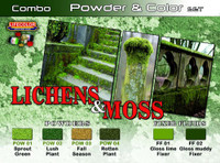 Lifecolor Lichens & Moss Powder & Color Acrylic Set