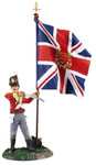 Wm. Britain - British 44th Regiment Ensign with Kings Colour No. 2