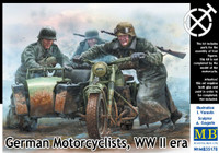 Masterbox Models - German Motorcyclists, WWII Era