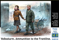 Masterbox Models - Children w/Ammo Cart Heading to the Frontline