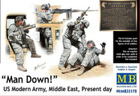 Masterbox Models  - Man Down! US Modern Army Middle East