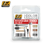 AK Interactive Color Combos: Standard Tools All Eras Acrylic Paint Set