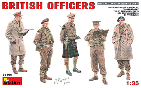 Miniart Models - WWII British Officers