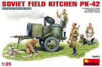 Miniart Models - KP42 Soviet Field Kitchen w/4 Crew