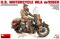 Miniart Models - US Motorcycle WLA w/Rider