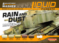 Lifecolor - Rain & Dust Weathering Liquid Pigments Set