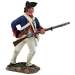 Wm. Britain: Clash of Empires: Contenental Line/1st American Regiment Standing Reaching for Cartridge, 1777-1787