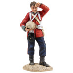 Wm Britain: Anglo Zulu War: British 24th Foot Standing Wiping Brow