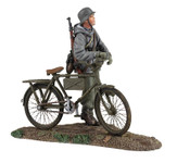 Wm. Britain German Volkgrenadier Wearing Parka Pushing Bicycle No.1
