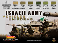 Lifecolor - Israeli Army Vehicles & Uniforms Camouflage Acrylic Set