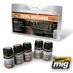 Ammo of MIG Civil Engines Weathering Set