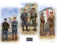 Masterbox Models - French, German, British Private & Officer Tankmen of WWI