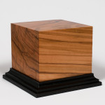 Wood Figure Base Pedestal - Olive Wood - Vignette - 120mm