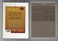 Wilder - WWII German numbers for vehicles. Variant 1. -Black-