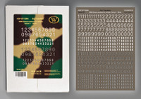 Wilder - WWII German numbers for vehicles. Variant 1. -White-