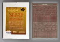 Wilder - WWII German numbers for vehicles. Variant 1. -Red-