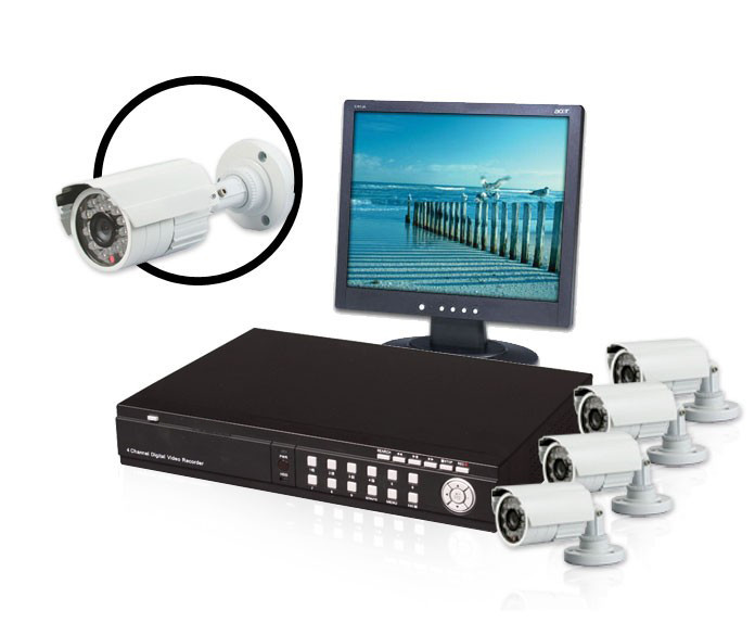 H 264 Advanced Complete 4 Channel Night Vision Surveillance System