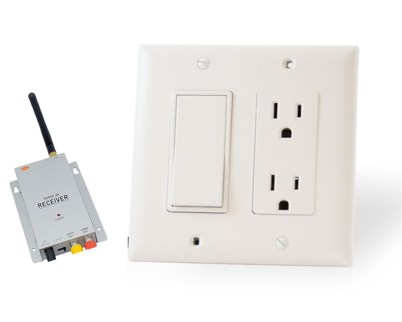 Wall Outlet/Switch Wireless Monitoring Hidden Spy Camera