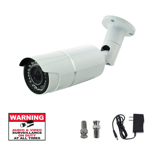 LEDs Color Weatherproof 2.8-12mm Vari-focal Bullet Camera with IR-Cut function
