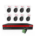 BTG 8CH 5MP PoE Security Camera System Built-in PoE 8MP 4K NVR with Outdoor 5MP Surveillance IP PoE 8 x Dome Cameras HD 2592 x 1944 IR CCTV System H265 2TB HDD