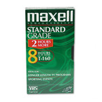 MAXELL 8 HOUR T-160 STANDART GRADE BLANK VHS VIDEO TAPE CASSETTE NEW
