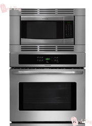 Frigidaire 27 inch 3 Piece Stainless Steel Wall Oven Microwave Combo FFEW2725PS_FFMO1611LS_FFMOTK27LS