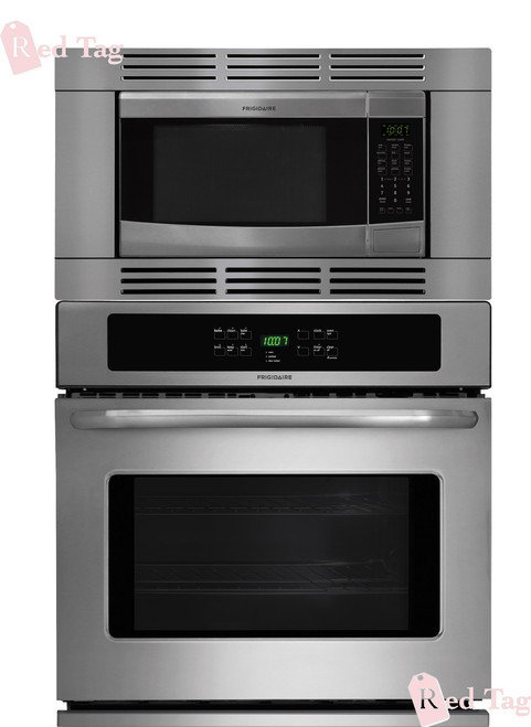 Frigidaire 27 Inch 3 Piece Stainless Steel Wall Oven Microwave Combo