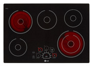 "LG 30"" Black Electric Smoothtop Cooktop LCE3010SB"