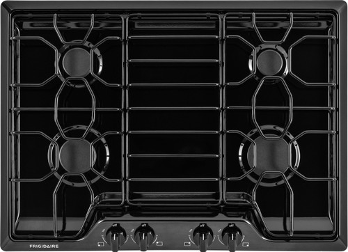 """Frigidaire 30"""" Black Gas Cooktop with 4 Sealed Burners FFGC3010QB"""