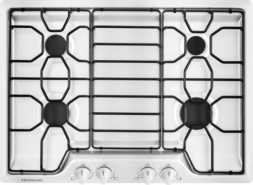 "Frigidaire 30"" White Gas Cooktop with 4 Sealed Burners FFGC3010QW"