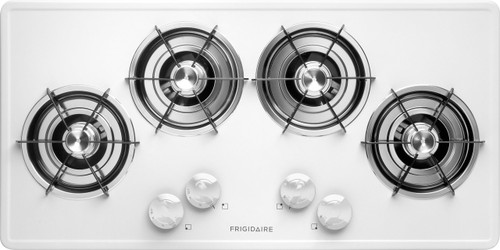 """Frigidaire 36"""" White Gas Cooktop FFGC3603LW"""