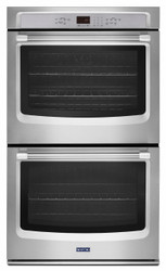 "Maytag 27"" Stainless Steel Double Electric Wall Oven with True Convection MEW9627DS"