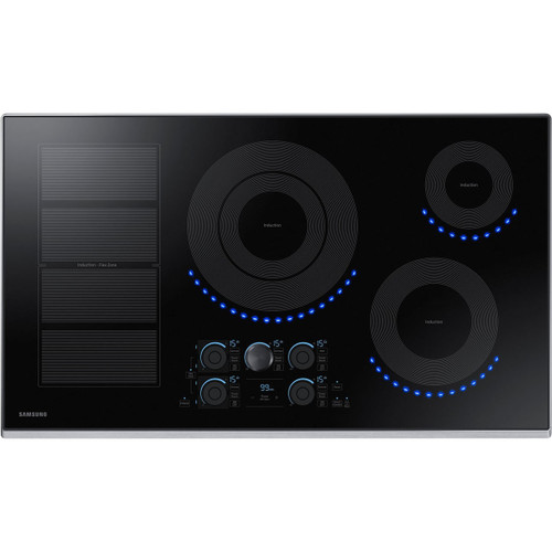 """Samsung 36"""" Stainless steel Induction Cooktop with Flex-Zone and Wi-Fi Connectivity NZ36K7880US"""