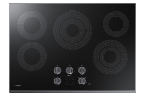 "Samsung 30"" Black Stainless Steel Electric Smoothtop Stovetop Cooktop NZ30K6330RG"