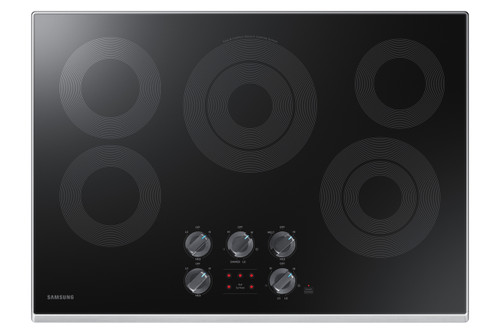"""Samsung 30"""" Stainless Steel Electric Smoothtop Stovetop Cooktop NZ30K6330RS"""