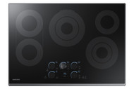 "Samsung 30"" Black Stainless Steel Electric Smoothtop Cooktop  with Wi-Fi Connectivity NZ30K7570RG"