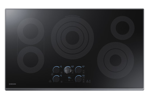 "Samsung 36"" Black Stainless Steel Electric Smoothtop Cooktop with Wi-Fi Connectivity NZ36K7570RG"