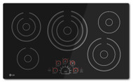 "LG 36"" Black Electric Smoothtop Cooktop with 5 Steady Heat Radiant Elements LCE3610SB"