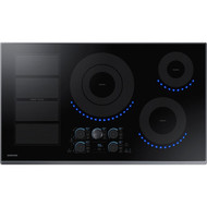 "Samsung 36"" Black Stainless Steel Induction Cooktop with Flex-Zone and Wi-Fi Connectivity NZ36K7880UG"
